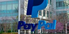 Fachada da sede do PayPal no Vale do Silício, Estados Unidos