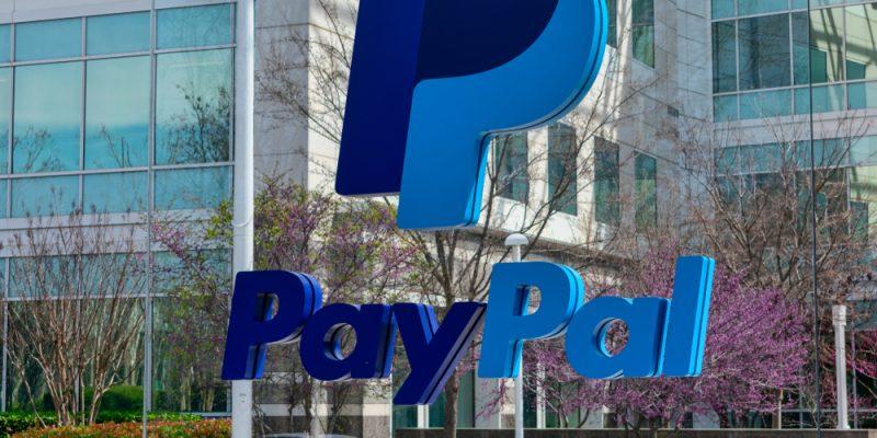 Fachada da sede do PayPal no Vale do Silício, Estados Unidos